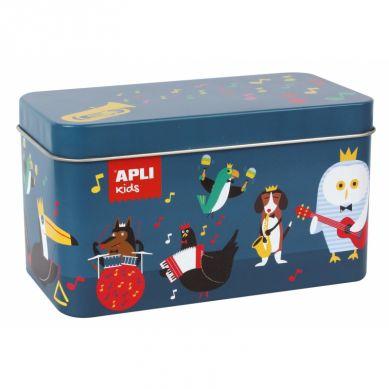 Apli Kids - Puzzle w Metalowym Pudełku Instrumenty 3+