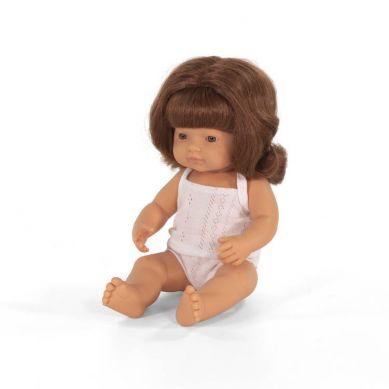 Miniland - Lalka Dziewczynka Europejka 38cm Rude Włosy
