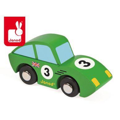 Janod - Wyścigówka Drewniana Roadster Zielona