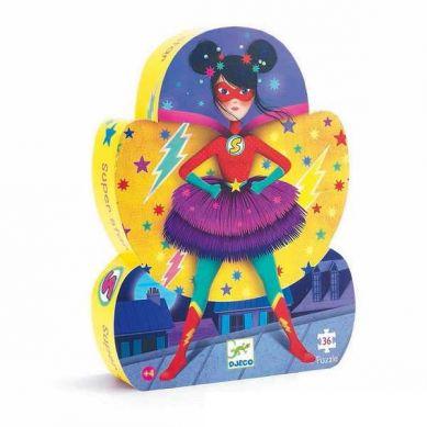 Djeco - Puzzle Super Star 36el.