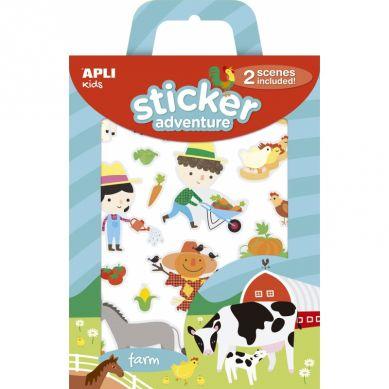 Apli Kids - Zestaw Naklejek z 2 Planszami Farma