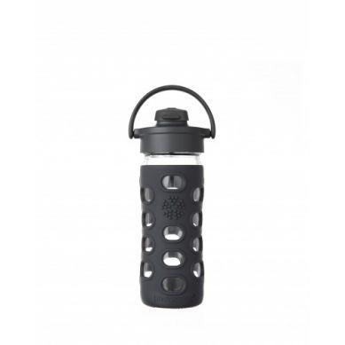 Lifefactory - Butelka Szklana z Ustnikiem 350ml Black