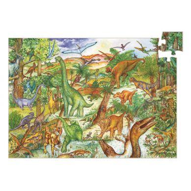 Djeco - Puzzle Dinozaury 100 elementów z Książeczką