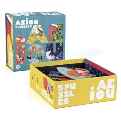 Londji - Puzzle dla Dzieci Samogłoski AEIOU 3+