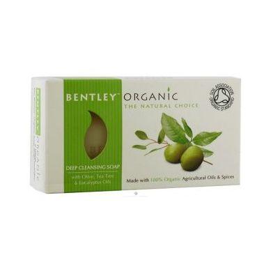 Bentley Organic - GŁĘBOKO OCZYSZCZAJĄCE Mydło z Oliwką, Olejkiem Herbacianym i Eukaliptusem 150g