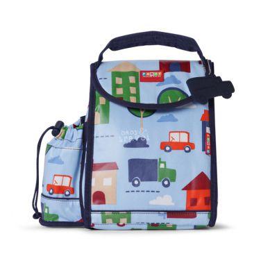 Penny Scallan - Plecak Lunchbox z Osobną Kieszonką na Picie Błękitny w Autka