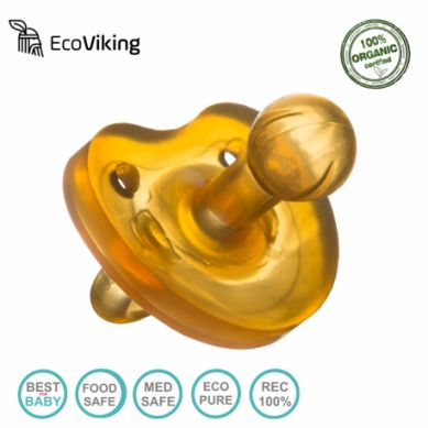 Eco Viking - Smoczek Kauczuk Naturalny Wiek 6m+