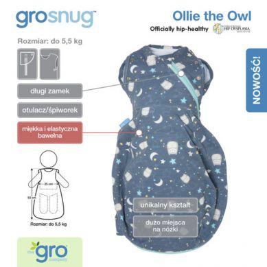 Gro Company - Otulacz-Śpiworek Grosnug Ollie the Owl Cosy