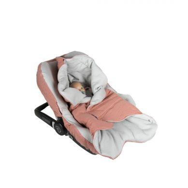Muzpony - Pikowany Śpiworek/Otulacz do Fotelika Samochodowego Blink Masala