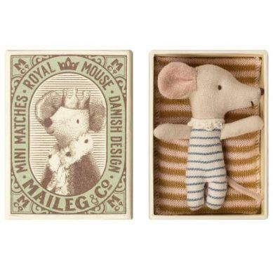 Maileg - Przytulanka Śpiąca Myszka w Pudełeczku Boy