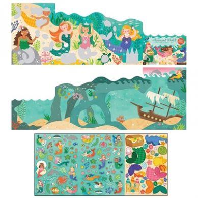 Petit Collage - Naklejki z Planszą Syrenka