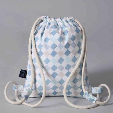 La Millou - Plecak Double Pack Velvet Collection Powder Blue La Millou Family Chessboard
