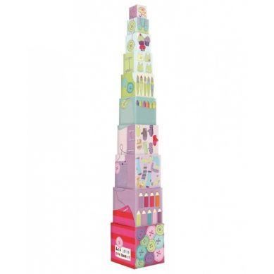 Moulin Roty - Klocki Wieża dla Najmłodszych Jolis Pas Beaux
