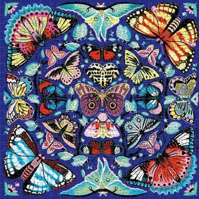 Mudpuppy - Puzzle Rodzinne Kalejdoskop z motylami 500 elementów 8+