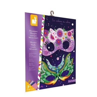 Janod - Zestaw kreatywny Mozaika Maski 7+