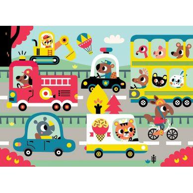 Petit Monkey - Puzzle On the Road  24el