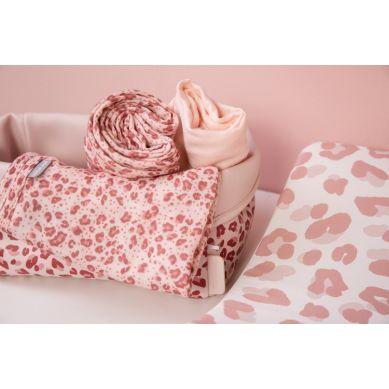 Bebe-Jou - Chusteczki Bambusowo-muślinowe 32 x 32 cm 3 szt Leopard Pink