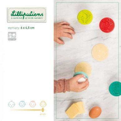 Lilliputiens - Silikonowe Stemple Do Ciasteczek Mały kucharz Las 4+