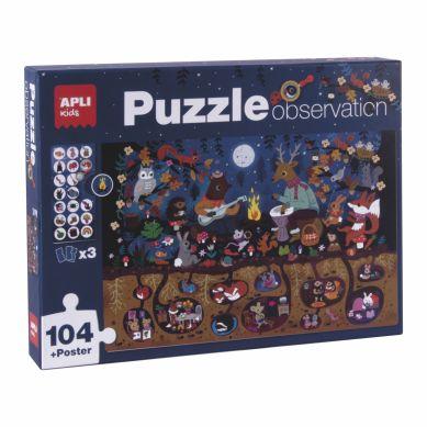 Apli Kids - Puzzle Obserwacyjne Las 104 el. 5+