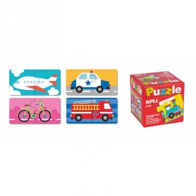 Apli Kids - Puzzle Dwuczęściowe Środki Transportu 3+