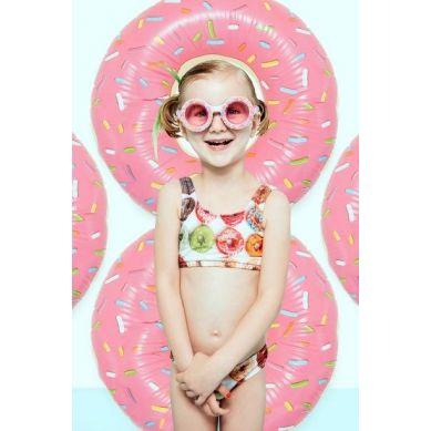 Bling2O - Okulary do Pływania Posypka Cukrowa Różowe 6+