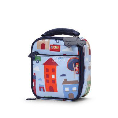 Penny Scallan - Kwadratowy Lunchbox Niebieski w Autka