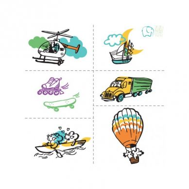 Zuzu Toys - Tatuaże dla Dzieci Pojazdy
