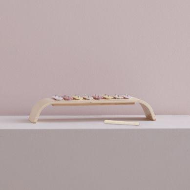 Kids Concept - Cymbałki Drewniane Multi Pink