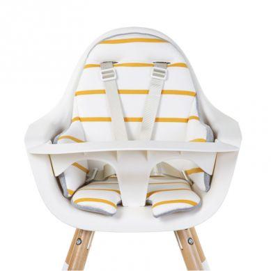 Childhome - Ochraniacz Poduszka do Krzesełka Evolu Jersey Paski Ochre
