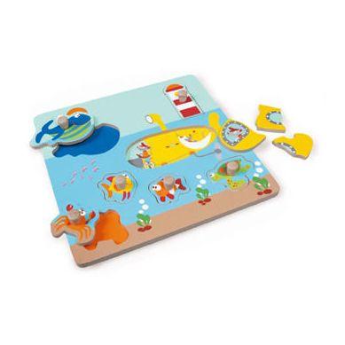 Scratch - Puzzle z Uchwytem Ocean