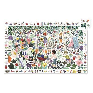 Djeco - Puzzle Obserwacyjne 1000el. Kwiaty
