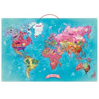 Vilac - Puzzle Magnetyczne 65el.  Mapa Świata