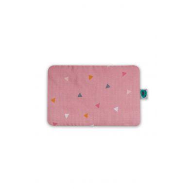 Pink no More - Płaska Poduszeczka Muślinowo-bambusowa Trójkąty Róż
