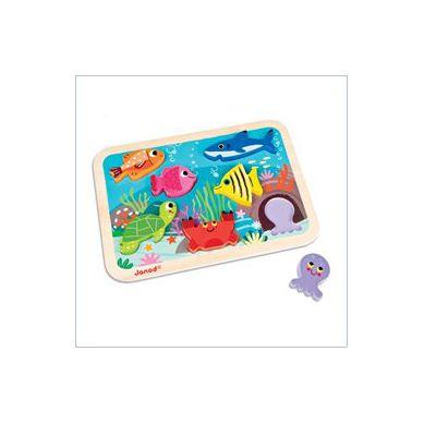 Janod - Układanka 3d Zwierzęta Morskie