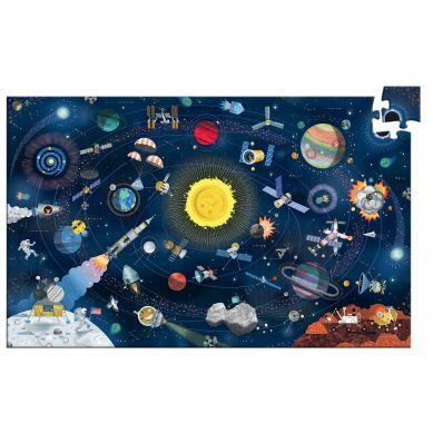 Djeco - Puzzle Kosmos 200 elementów z Książeczką