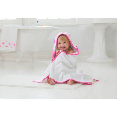 aden + anais - Zestaw Ręcznik i Myjka Fluro Pink