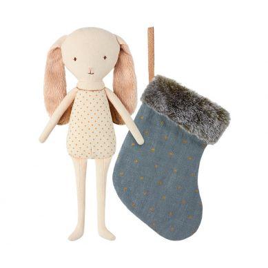 Maileg - Przytulanka Bunny Angel w Skarpecie Granatowej