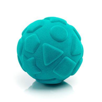 Rubbabu - Piłka Edukacyjna Sensoryczna Figury Geometryczne Turkusowa