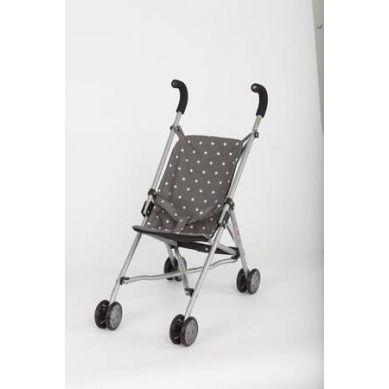 Barrutoys - Wózek Spacerówka Szary w Białe Gwiazdki