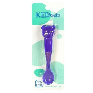 KIDodo - Łyżeczki Zmieniające Kolor Fioletowy Miś 2 szt