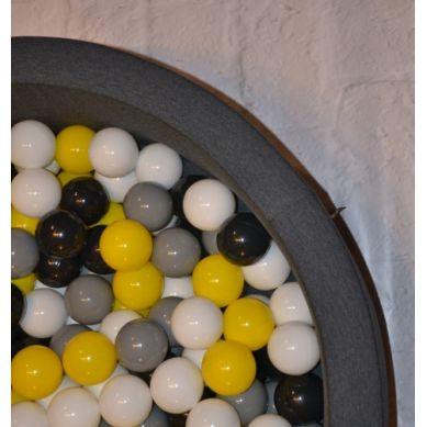 Misioo - Suchy Basen z 200 Piłeczkami 30 cm Grafitowy + 100 Dodatkowych Piłek