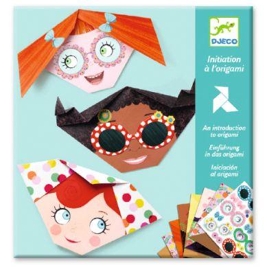 Djeco - Origami z naklejkami Wesołe Twarze