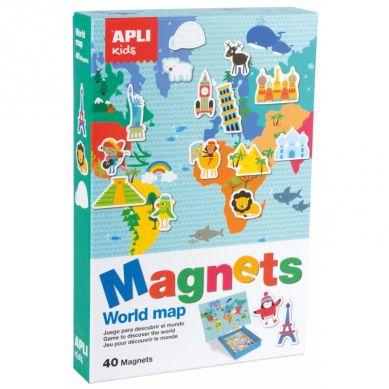 Apli Kids - Magnetyczna Układanka Mapa Świata