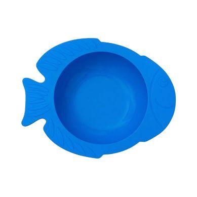 KIDodo - Silikonowa Miseczka z Przyssawką Niebieska Rybka