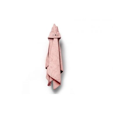My Memi -   Bambusowy duży ręcznik powder pink - cat