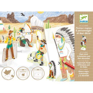 Djeco - Zestaw Kreatywny Magiczny Plastik Western