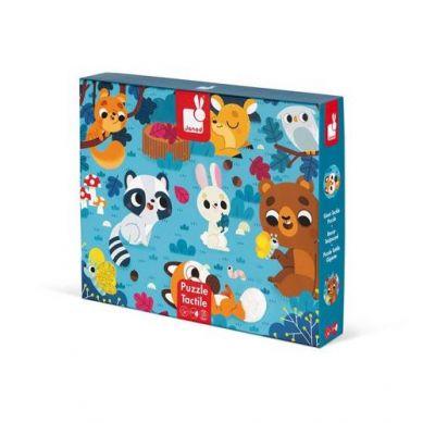 Janod - Puzzle Sensoryczne 20 elementów Leśne Zwierzęta 2+
