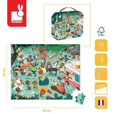 Janod - Puzzle w Walizce Rodzina Misiów 54 Elementy 5+