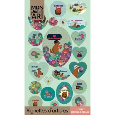 Mon Petit Art - Książeczka z Naklejkami Lovely