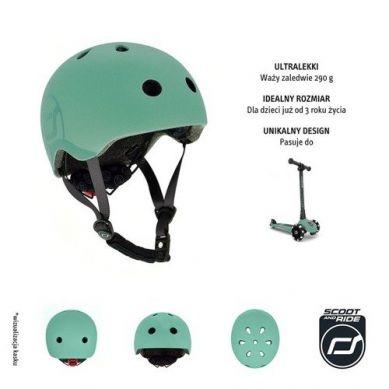 Scootandride - Kask S-M dla Dzieci 3+ Forest